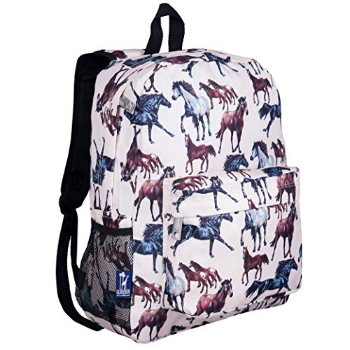Wildkin 16 Inch Kids Backpack for Boys & Girls, 600-Denier Polyester Backpack for Kids, Features Padded Back & Adjustable Strap, Perfect Size for School & Travel Backpacks, BPA-Free (Horse Dreams)