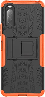 Case for Sony Xperia 10 II, Kickstand Heavy Duty Armor Cover Shock Proof with Anti-Scratch Ultra-Thin, Double Layer Design...