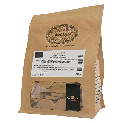 Valrhona - Orelys 35% chocolat blond au muscovado de couverture fèves 500 g