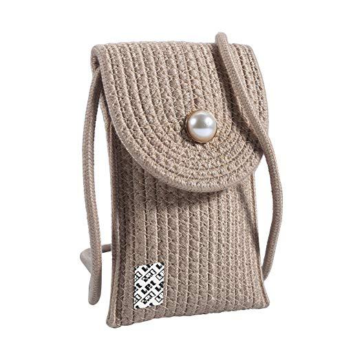 LefRight Bolsa de teléfono móvil estilo tejido pequeño estilo bolso de teléfono...