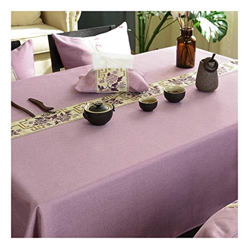 Tafelkleden, sober en tafelkleed, katoen, linnen, rechthoekig, stof plaatsen, salontafel, stof, rood, tafelkleed 135 * 220cm C