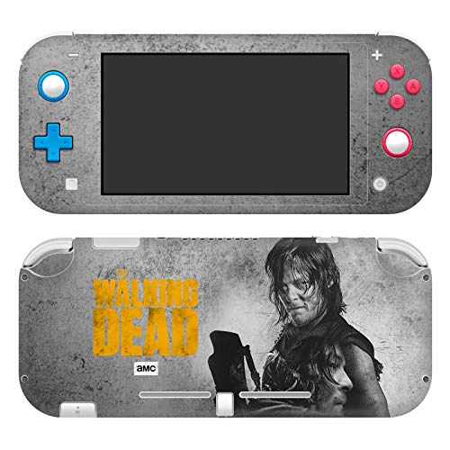 Head Case Designs Officially Licensed AMC The Walking Dead Daryl Double Exposure Daryl Dixon Graphics Vinyl Sticker Skin Decal Cover Compatible With Nintendo Switch Lite