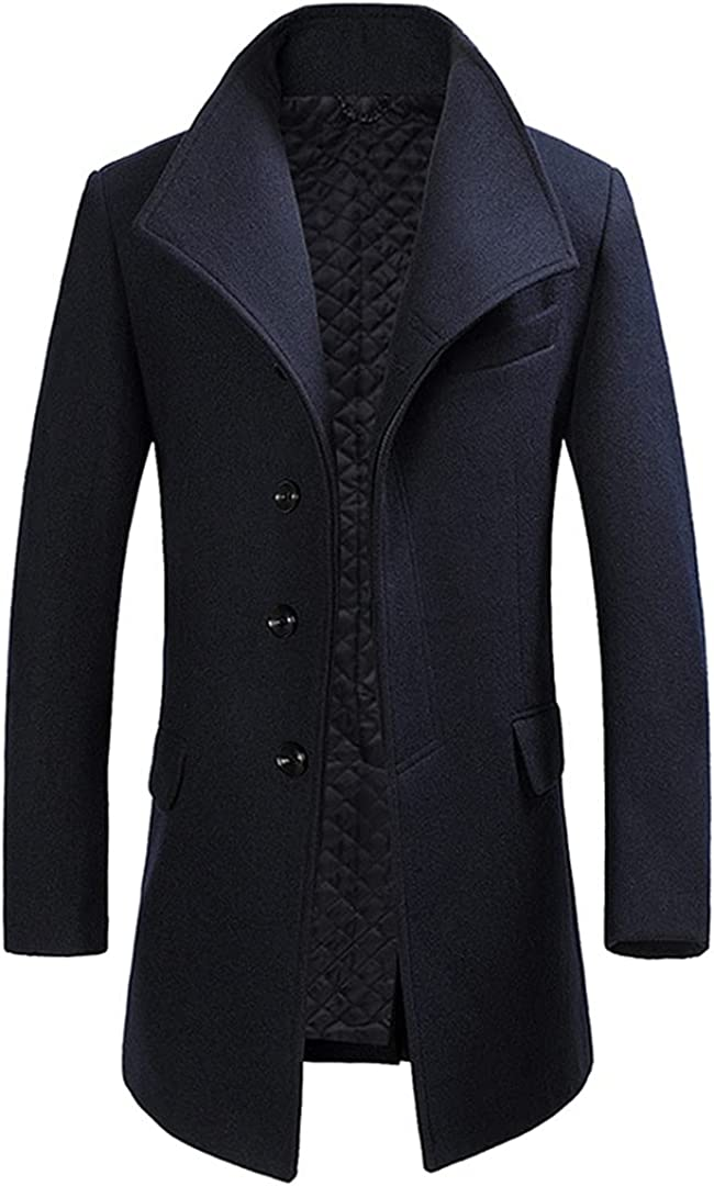 Wool Coat Mens Long Jacket Thicken Coats Man Winter Woolen Male Overcoat Trench Coat Jacket