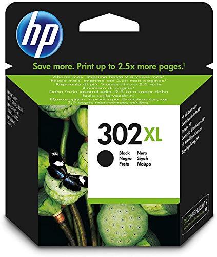 HP 302XL 8.5ml 480páginas Negro - Cartucho de tinta para impresoras (Alto, HP, 302XL, Negro, Deskjet 1110, Deskjet 2130 AiO, Deskjet 2132 AiO, Deskjet 2134 AiO, Deskjet 3630 AiO, Officejet 3830, Inyección de tinta)