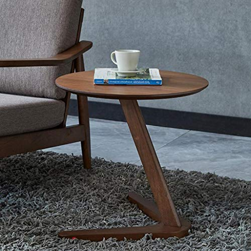 Home Side Table Round Coffee Table For Living Room Small Bedside Table Design End Table Sofaside Minimalist Small Desk - Wood