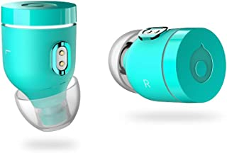 Crazybaby Air (Nano) True Wireless Bluetooth Earbuds with Charging Capsule, Bluetooth 5.0 Ready, with All Day Battery Life and Microphone. (Atlantic Green)