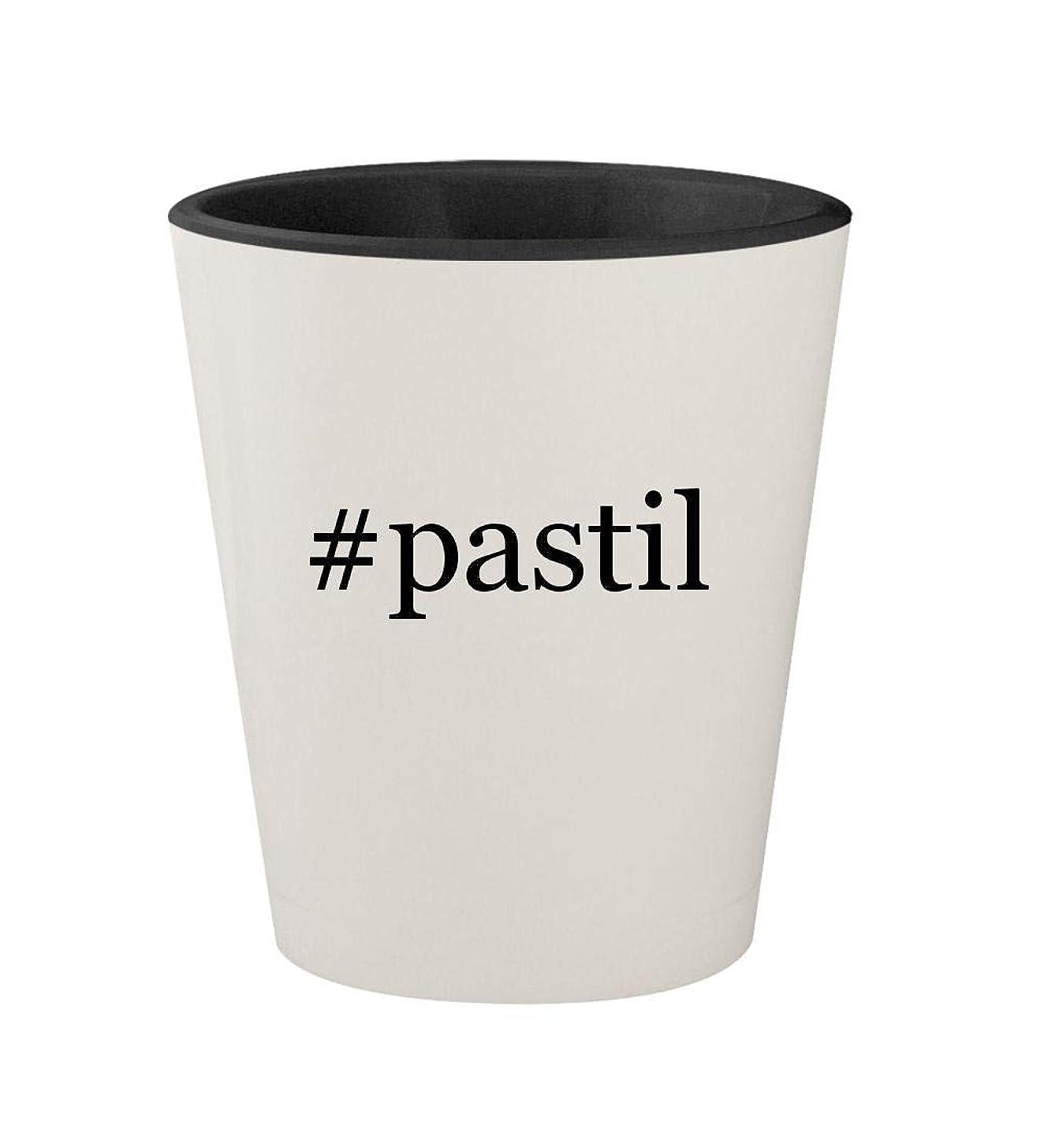 #pastil - Ceramic Hashtag White Outer & Black Inner 1.5oz Shot Glass