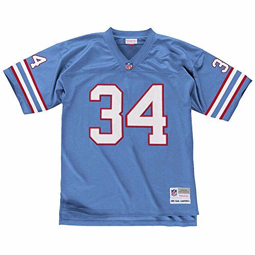 Earl Campbell Houston Oilers Mitchell & Ness Throwback Retro Replica Jersey (Blue) XL