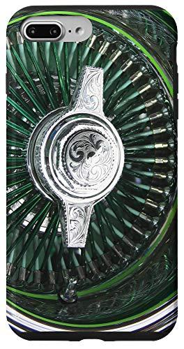 iPhone 7 Plus/8 Plus Lowrider Green wheel rim engraved knockoff art Case