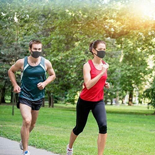 11 Stück Allwetterschutzstücke, Atmungsaktiv, Wiederverwendbar und Waschbar, Geeignet für Outdoor-Aktivitäten, Schwarze - 6