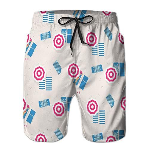 50 Mens Board Board Shorts Moda Surf Shorts Costume da Bagno Spiaggia Vista dall'alto Stile retrò L
