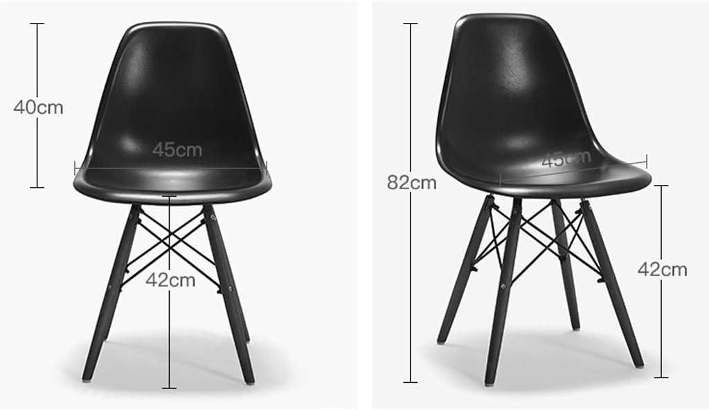 SLL- Chaise de Salle, Chaise de Bureau Simple, créative Dossier, Chaise Loisirs, Maison Adulte Chaise de Salle Moderne (Color : Green) Blue