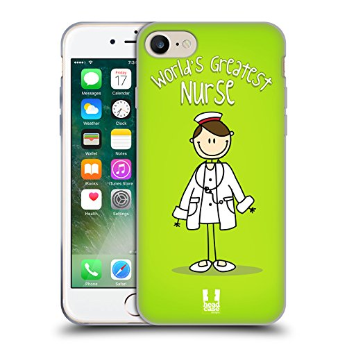 Head Case Designs Migliore Infermiera del Mondo Il Miglior Lavoro del Mondo Cover in Morbido Gel Compatibile con Apple iPhone 7 / iPhone 8 / iPhone SE 2020