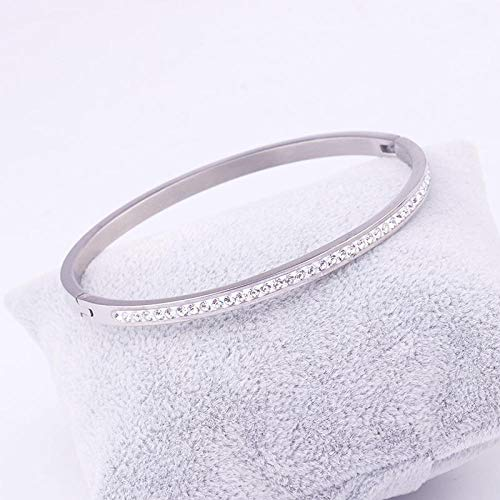 AYLCFC Fashion Bruiloft Sieraden Titanium Staal Armband Vrouwelijke Kristal Van Swarovski Armband 3 Kleuren Voor Vrouwen