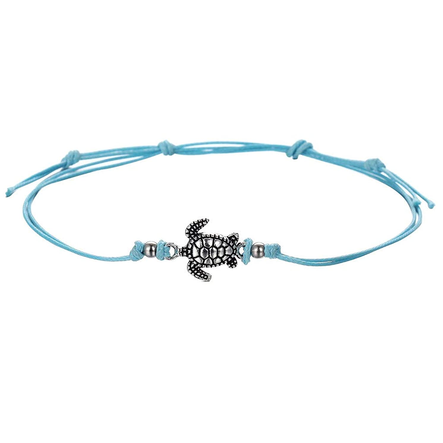 Bohemia Ankle Bracelets for Women Beaded Anklet Turqoise Alloy Anklet Beach Foot Bracelet for Women & Girls Vintage Ankle Foot Chain for Beach Party Travel