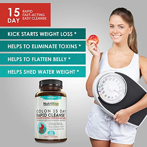 Colon Cleanser Detox for Weight Loss. 15 Day Fast-Acting Extra-Strength Cleanse with Probiotic & Natural Laxatives for Constipation Relief & Bloating Support. 30 Detox Pills to Detoxify & Boost Energy 4