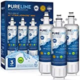 Pureline LT700P Water Filter Replacement for Kenmore Elite 46-9690, LG LT700P, ADQ36006101, ADQ36006101-S, LMXS27626s, LFXS29766s, & HDX FML-3, Kenmore 9690,Kenmoreclear 9690, and Many More. (3 Pack)
