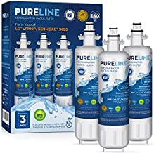 Pureline LT700P Water Filter Replacement for LG LT700P, Kenmore Elite 46-9690, ADQ36006101, ADQ36006101-S, LMXS27626s, LFXS29766s, & HDX FML-3, Kenmore 9690,Kenmoreclear 9690, and Many More. (3 Pack)