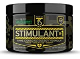 T6 Stimulant-1 Pre Workout Powder – World's Strongest Energy Drink Mix, Nootropic Fat Burner & Focus Supplement for Men & Women w/Taurine & Teacrine, 25sv