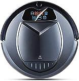 KALUN Saugroboter Roboter-Staubsauger, Intelligent Teppichkehrer, Zeitplan, virtuelle Blocker, Selbstgebühr, Fernbedienung für Hartböden und Teppiche (Color : Grey)