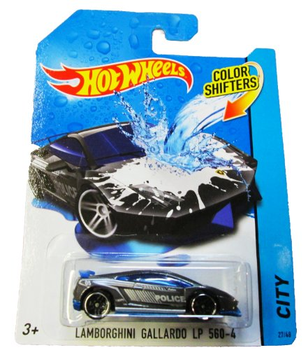 Hot Wheels - 2014 Color Shifters - City 27/48 - Lamborghini Gallardo LP 560-4 by Mattel (English Manual)