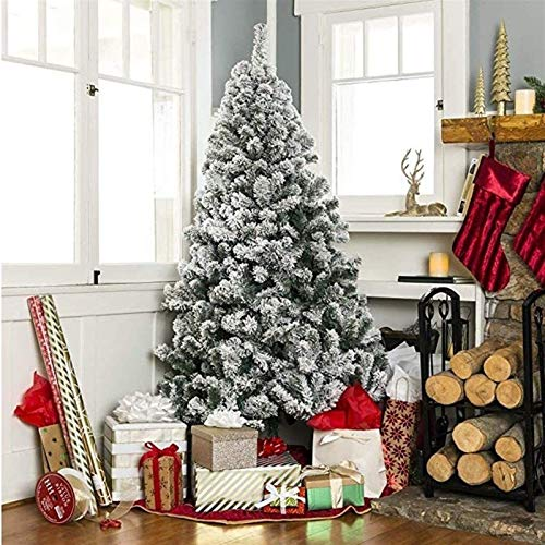 CHUANGAO Classic traditional home decorating a Christmas tree 4 ft / 5 ft / 6 ft / 7 ft artificial Christmas tree with a snow-covered pine base metal (Size : 1.5m)