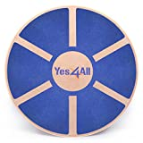 Yes4All Wooden Wobble Balance Board – Exercise Balance Stability Trainer 15.75 inch Diameter -...