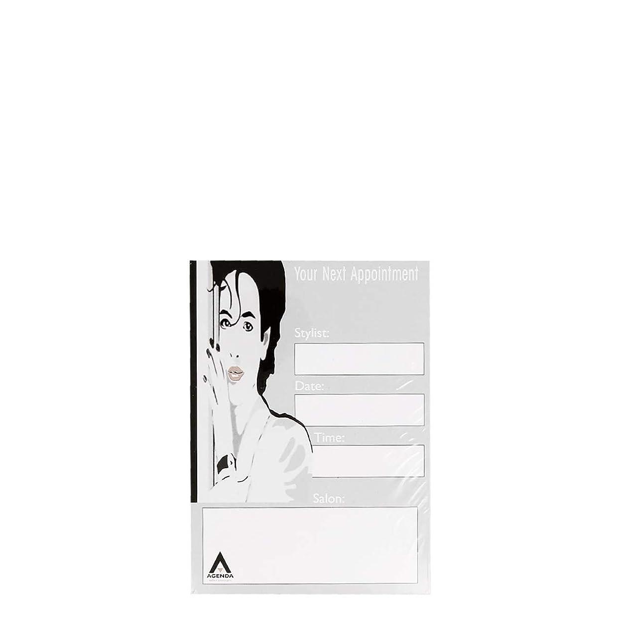 イサカ水平気になるアジェンダ サロンコンセプト ネイルアポイントメントカードAP1 x100[海外直送品] [並行輸入品]