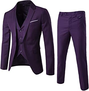 HurBer メンズ スーツ スリーピース 上下セット ビジネス フォーマル 3点セット ジャケット ベスト スラックス 通勤 結婚式 就職 パーティー