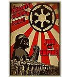 yuyu-beautiful Película Clásica Star Wars Yoda/Darth Vader Póster Lienzo Papel Decoración para...