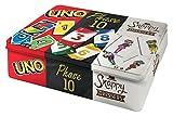 Mattel Games FFK01 - Kartenspiele Spielesammlung in Metalldose mit UNO, Phase 10, Snappy...