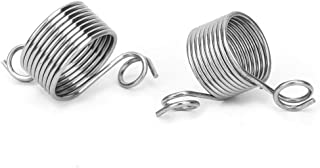 HEEPDD Guide de Fil, Ressort Tressé Fil pour Aider à Tricoter Accessoires à Coudre 2 Tailles Bague À Tricoter Filé Outils ...