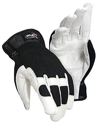 Galeton 9120057 Max Extra Dp White Goat Grain, Double Palm Mechanics Gloves