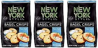 New York Style Bagel Crisps Sea Salt, 7.2 Ounce -(Pack of 3) Best Party Snacks