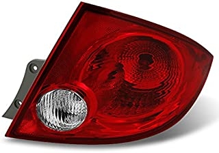 For Chevy Cobalt Pontiac G5 Pursuit 4Dr Sedan Red Clear Passenger Right Side Rear Tail Light Repalcement