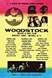 WOODSTOCK Line Up Poster Drucken (60,96 x 91,44 cm)