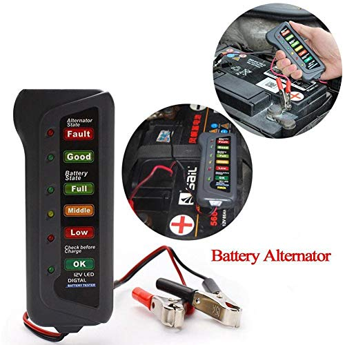 Discover Bargain NO-LOGO Hf-Accessories Battery Tester 12V Battery Tester Portable Car Battery Teste...