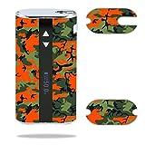 Decal Sticker Skin WRAP Orange& Green Camo Custom Art for Eleaf iStick 50W