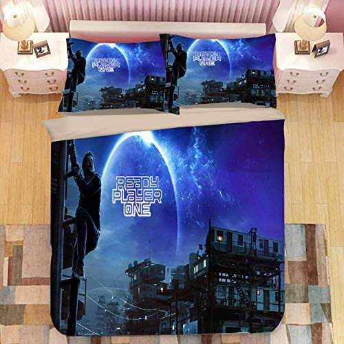 HDBUJ Gamer Movie Cover Down Duvet Cover With Zipper, Modern Bedroom Polyester Bedding, Two Pillowcases, Single (Double Bed) 260X220Cm
