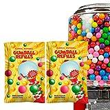 2 Packs Mini Gumballs 0.5 inch 13mm - Bubble Gum Balls for Gumball Machine Refill Bulk 2 lb 520 pcs