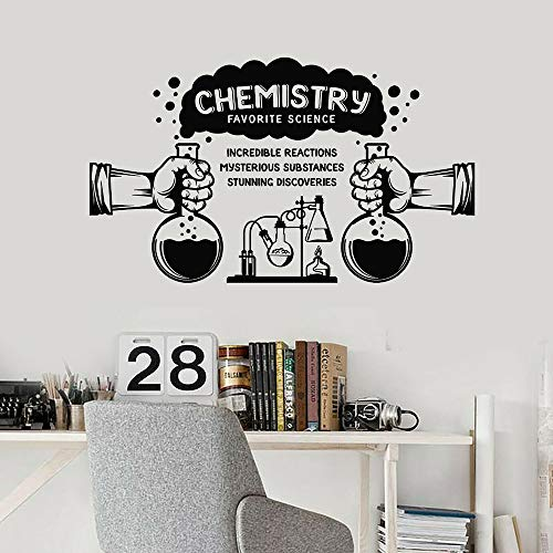 HGFDHG Calcomanías de Pared Material de Ciencia Laboratorio de química Aula Escolar decoración de Interiores Puertas y Ventanas Pegatinas de Vinilo Papel Tapiz