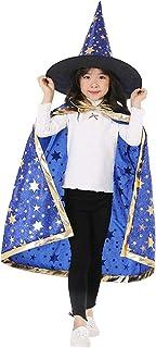YULOONG هالوين الأطفال نجمة عباءة مجموعة الأداء تأثيري الأزياء الساحرة الساحرة الصغيرة للأطفال الأولاد والبنات
