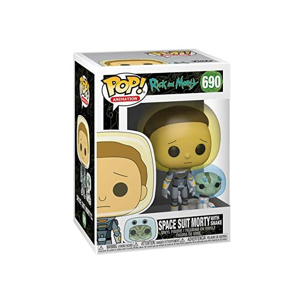 Funko Pop Morty con traje espacial y serpiente (Rick & Morty 690) Funko Pop Rick & Morty
