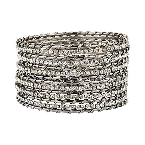 Efulgenz Boho vintage antik tribal indisk oxiderad guldpläterad klocka Jhumki berlock armband armband set smycken e Basmetall, colore: stil 2, cod. BNG564-2.4