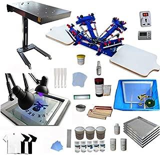 4 color screen printing press kit