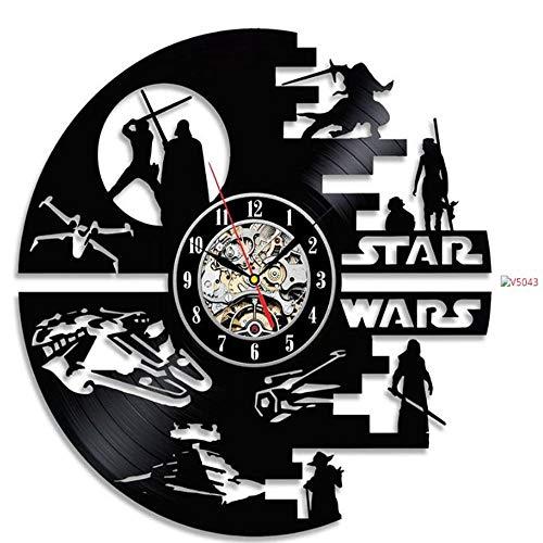 Gbrand Reloj Creativo CD Vinilo Graba Reloj de Pared Decoración del hogar Decoración 3D Relojes Colgantes LED Luz de luz Luz de Pared Reloj de Pared-con 7 Colores de luz
