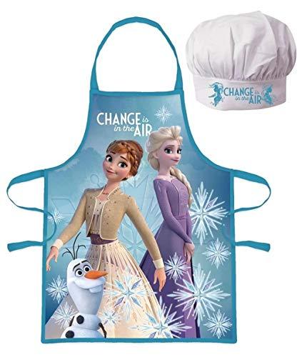 Palleon Frozen Die Eiskönigin Kinder Koch-Set Kochschürze und Kochmütze