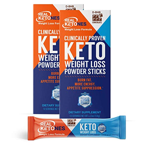 Real Ketones- Exogenous Keto- D BHB + Electrolytes- Drink Mix Supplement Powder- 20 Packets, Chocolate