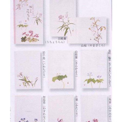外山康雄 画 折々の花たちはがきセット 第四集(春)30-527