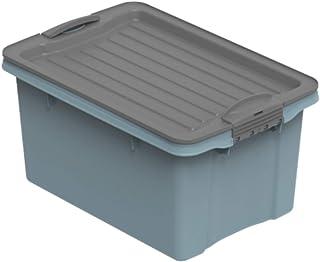 Rotho Compact Boîte de Stockage 4,5L avec Couvercle, Plastique (PP Recyclé) sans BPA, Bleu/Anthracite, A5/4,5L (27,0 x 18,...